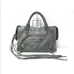 Balenciaga Gris Classic Mini City Bag